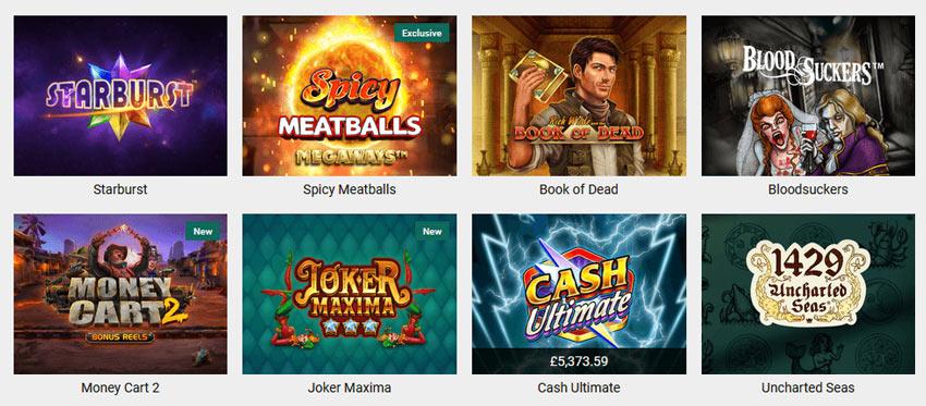 Casinoangebot von Unibet