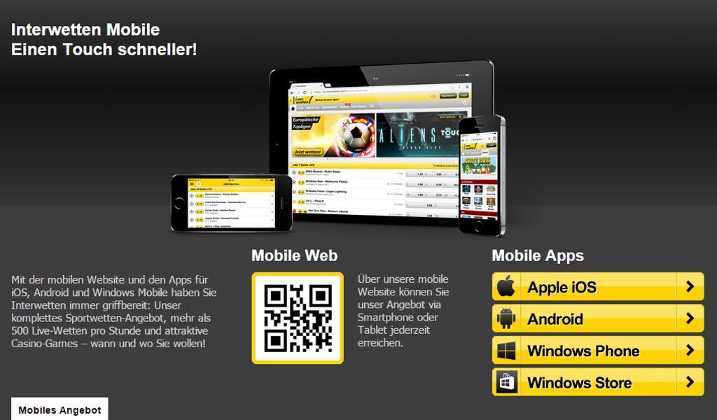 Interwetten Mobile (Quelle: Interwetten)