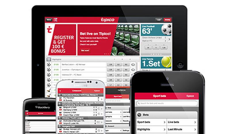 Mobile App bei Tipico