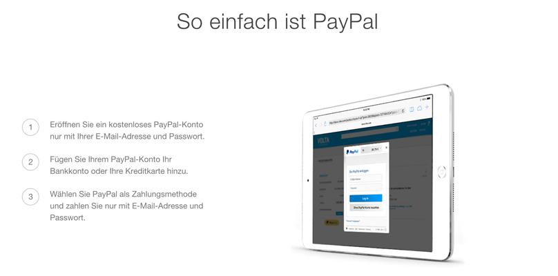 Die Anmeldung bei PayPal ist einfach und schnell (Quelle: PayPal)