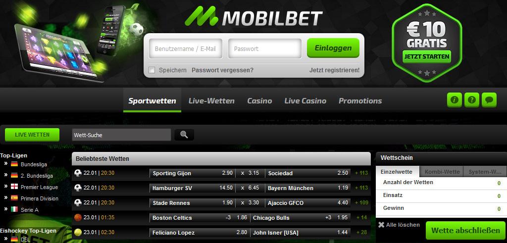 Mobilbet Startseite