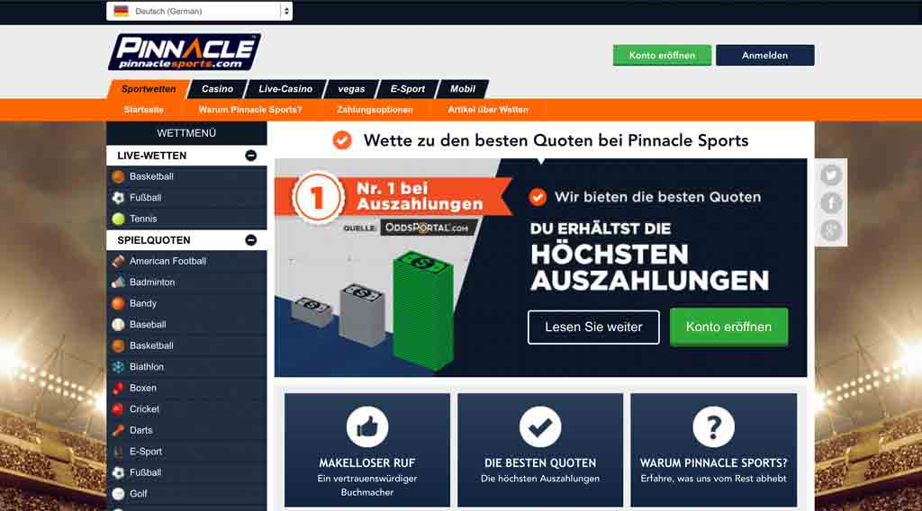 pinnacle-sports_startseite_wettangebot