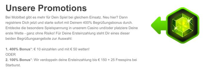 Einzahlungsbonus bei Mobilbet (Quelle: Mobilbet)