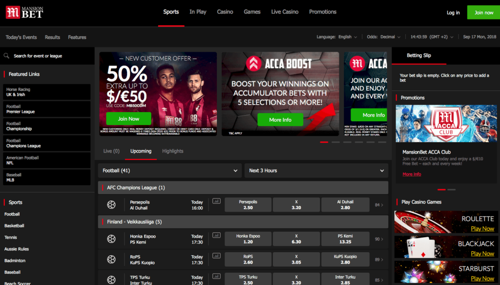 mansionbet homepage