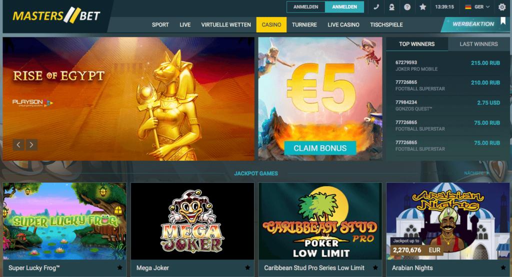 masters bet casino