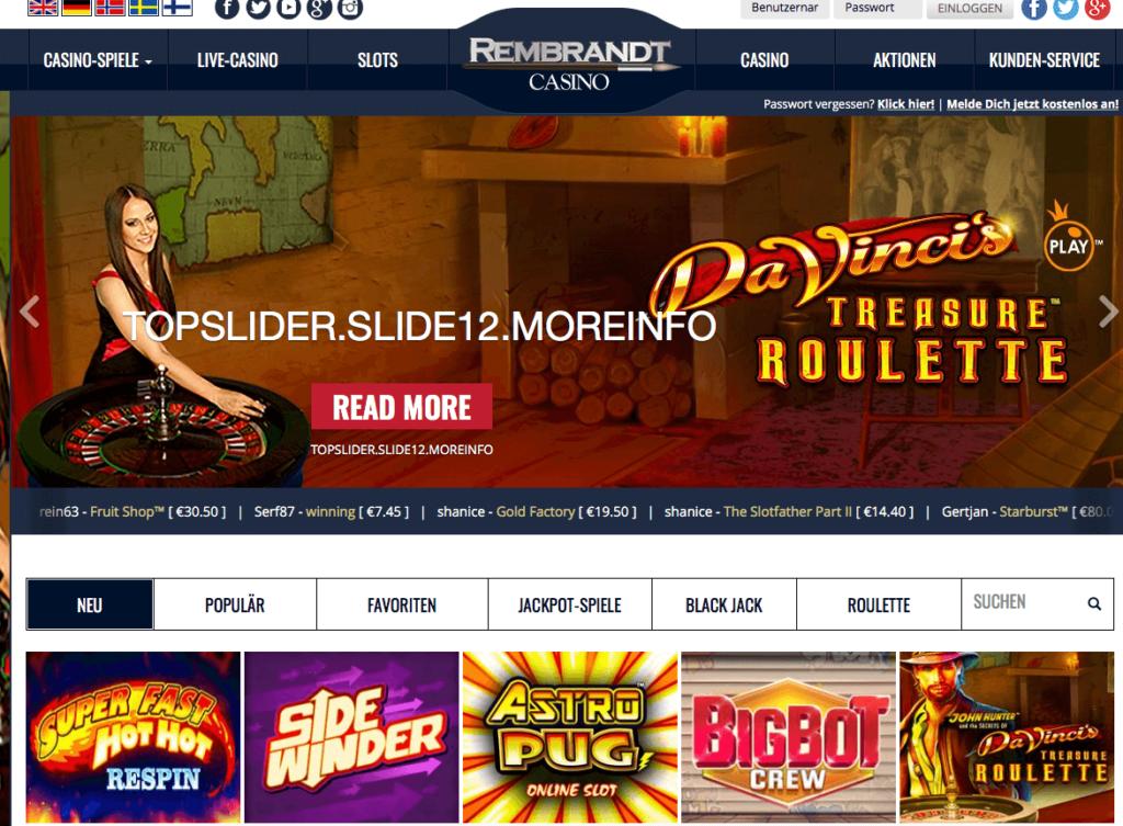 Rembrandt Casino Bereich