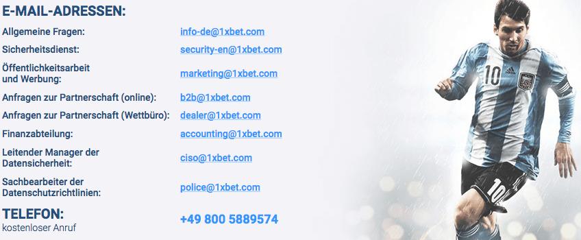 1xbet Kundenservice