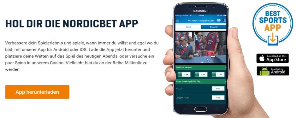 NordicBet Mobile App Sports bet