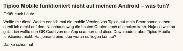 Tipico App Störung