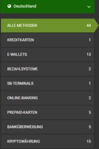Zahlreiche Zahlungsmethoden stehen für deutsche Wettfreunde bereit