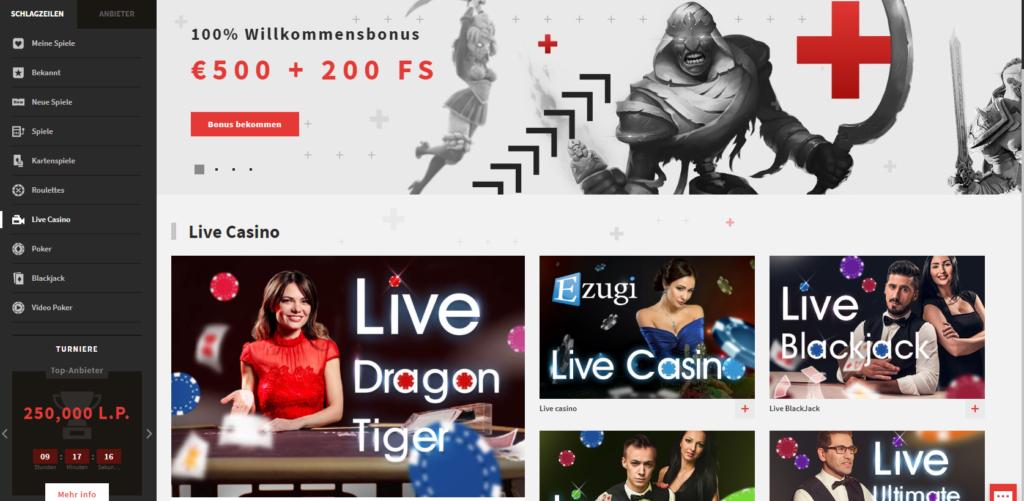 Zulabet Live-Casino