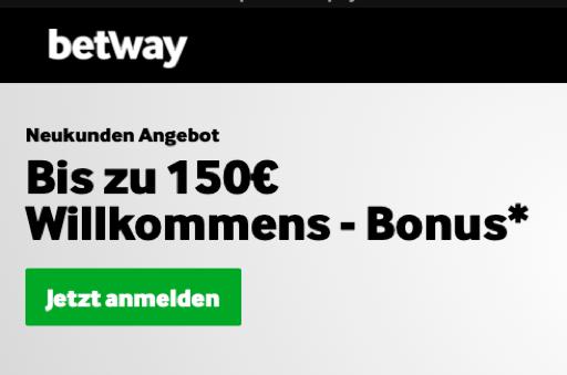 willkommens bonus betway