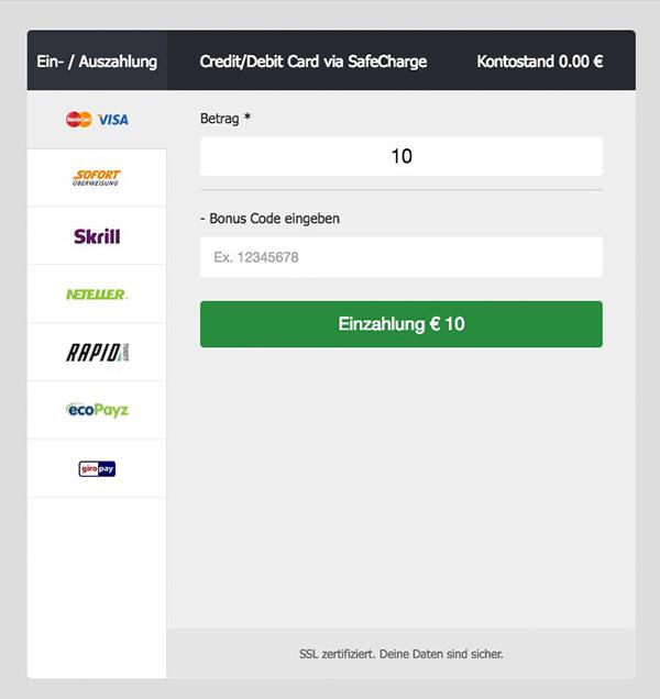 EagleBet Erfahrungen – Einzahlungen und Auszahlungen