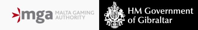 Logos von der Malta Gaming Authority (MGA) und des Gambling Commissioners Gibraltar