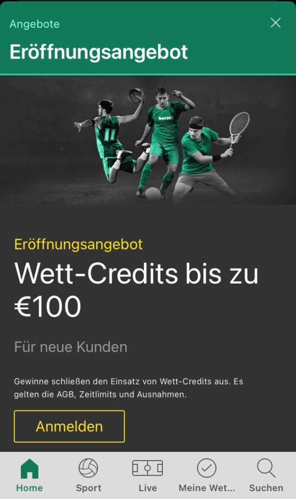 Bonus von bet365