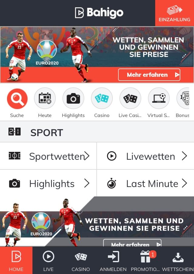 Mobile App von Bahigo