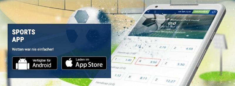 Die bet-at-home App ist für Android und Apple Geräte verfügbar