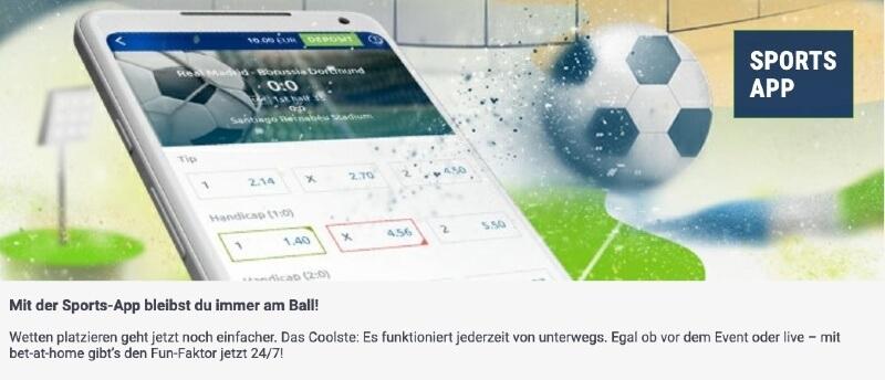 Die bet-at-home Sportwetten App