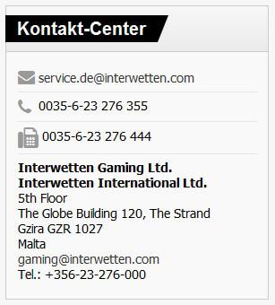 Kundenservice von Interwetten